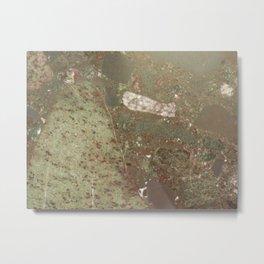 Green Granite Metal Print