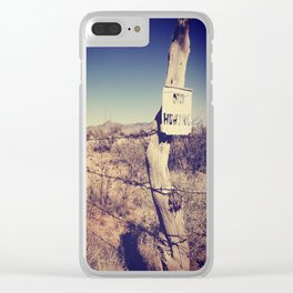 no hunting Clear iPhone Case