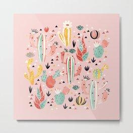 Pink Desert pattern Metal Print