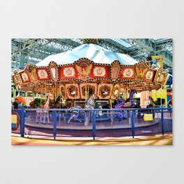 Carousel inside the Mall Canvas Print