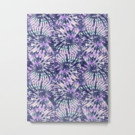 Purple Tie Dye Swirls Metal Print