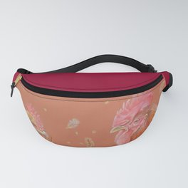ROOSTER and HEN Farm animals Domestic birds illustration Fanny Pack