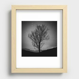 Lost lake solo tree Recessed Framed Print