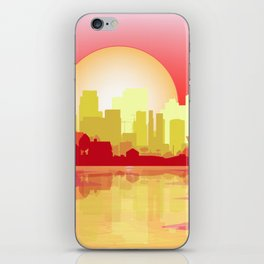 City At The Dusk iPhone Skin