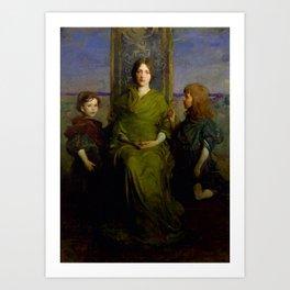 Abbott Handerson Thayer - Virgin Enthroned Art Print