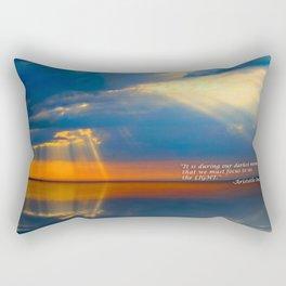 Light Quote Aristotle Onassis Rectangular Pillow