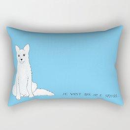vit räv Rectangular Pillow