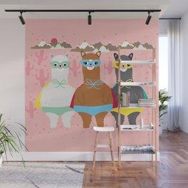 Alpaca Superheroes I Wall Mural