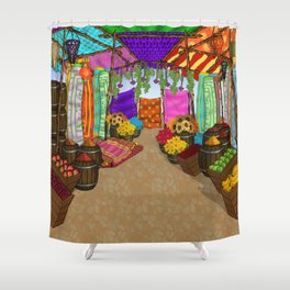 At The Bazaar Shower Curtain
