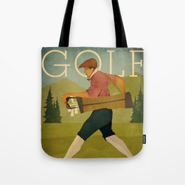 Vintage Golf Tote Bag