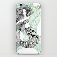 mermaids iPhone & iPod Skins featuring Mermaids by winnie patterson
