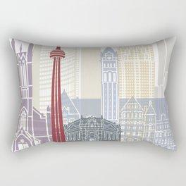 Toronto skyline poster Rectangular Pillow