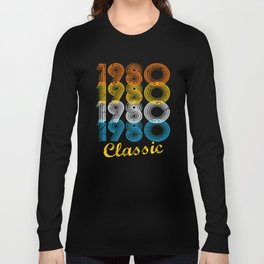 37th Birthday Gift Vintage 1980 T-Shirt for Men & Women T-Shirts and Hoodies Long Sleeve T-shirt