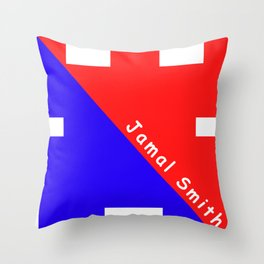 Ninja Blue and Red Throw Pillow