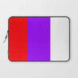 Team Colors 7...red.purple.white Laptop Sleeve