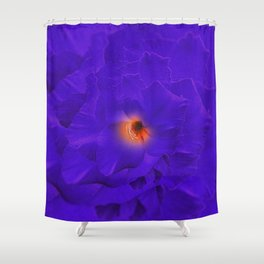 Sword Lily Purple Kaleidoscope Shower Curtain