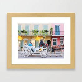 A Colorful Christmas in the French Quarter Framed Art Print