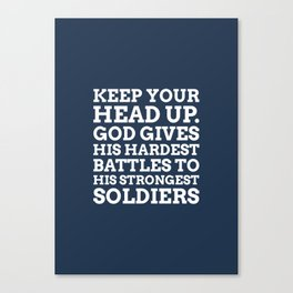 Keep your head up - COLOR5 Canvas Print