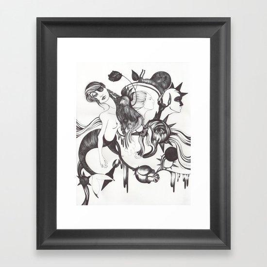 Retrato de Sirena Framed Art Print