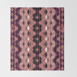 small diamond aztec Throw Blanket