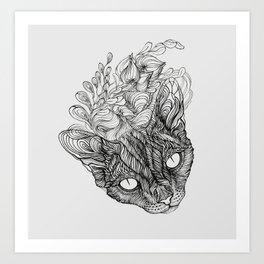 Cat look Art Print