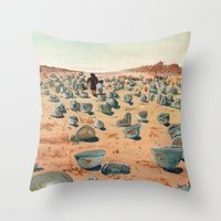 battlefield Throw Pillows featuring The Battlefield. by Jera Sky