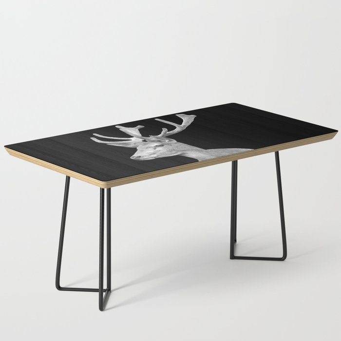 Deer Black Coffee Table