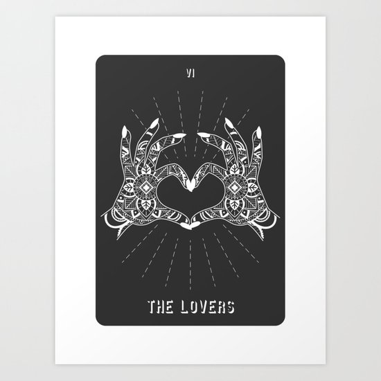 Minimal Tarot Deck The Lovers by cafelab