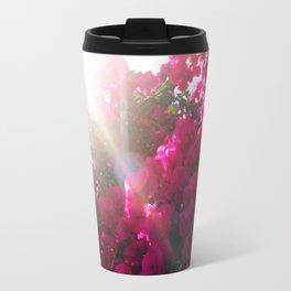 Flowers Bloom in Sunlight Travel Mug