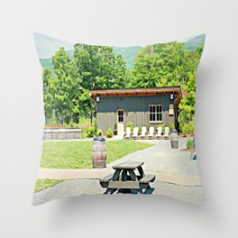Little Shanty In The Hills Throw Pillow