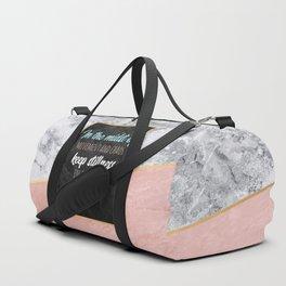 Keep stillness inside of you Duffle Bag