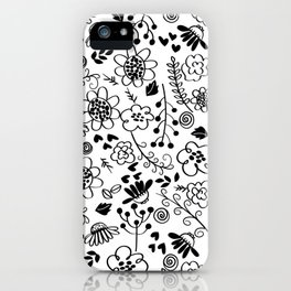 Wild Flowers and Ferns iPhone Case