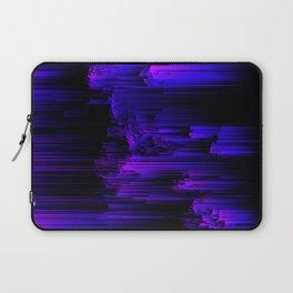 Ultraviolet Light Speed - Abstract Glitch Pixel Art Laptop Sleeve