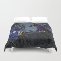 hallion Duvet Covers featuring And Now You Will Deal with ME, O' Doctor by Karen Hallion Illustrations