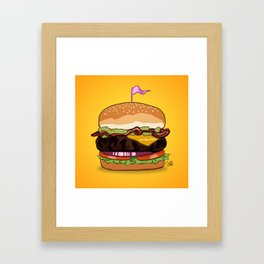 Bacon Cheeseburger Framed Art Print