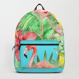 Flamingo Garden Backpack
