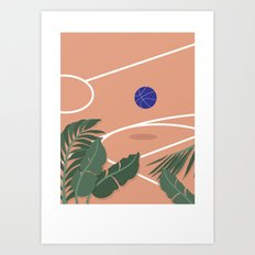 Basketball Breeze Art Print