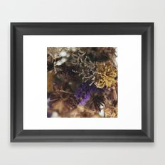 floral blur Framed Art Print
