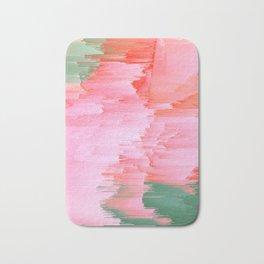 Romance Glitch - Pink & Living coral Bath Mat