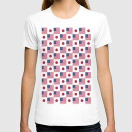 Mix of flag: USA and Japan T-shirt