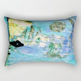 Castaneda and the kids - blue Rectangular Pillow