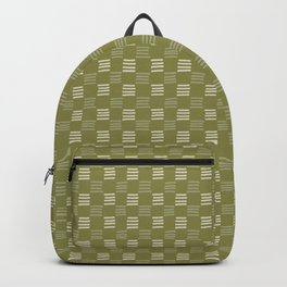 Green Checkerboard Backpack
