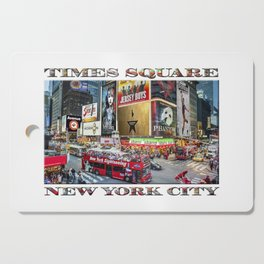Times Square II (widescreen poster on white) Cutting Board
