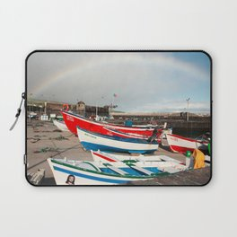 Rainbow at the harbour Laptop Sleeve
