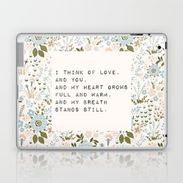 I think of love, and you - E. Dickinson Collection Laptop & iPad Skin