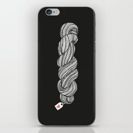 Yarn Crafter Skein Love White on Black iPhone Skin