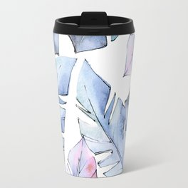 Watercolor Tropical Leaves IV Travel Mug
