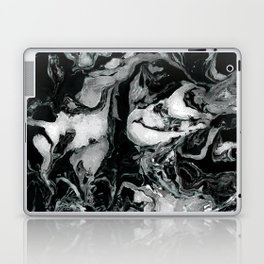 Black and white Marble texture acrylic paint art Laptop & iPad Skin