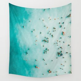 Beach Photography, Aerial Blue Ocean Print, Large Turquoise Ocean Poster, Coastal Wall Art, Beach Wall Tapestry
