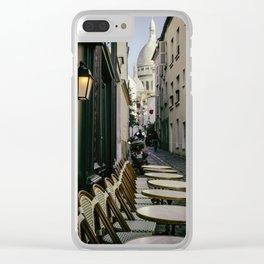 Montmartre Alleyway Clear iPhone Case